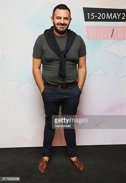 Steven Khalil poses during the 2016 MBFWA Official Schedule Launch at Quay Sydney on March 23 2016 in Sydney Australia