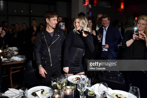Steven Klein and Fergie attend the CR Fashion Book Celebrating launch of CR Girls 2018 with Technogym at Spring Place on December 12 2017 in New York...
