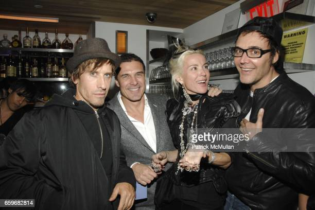 Steven Klein Andre Balazs Daphne Guinness and David LaChapelle attend Party at the Pool at Night Hotel on March 23 2009 in New York City