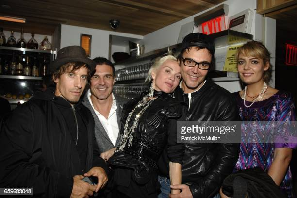 Steven Klein Andre Balazs Daphne Guinness David LaChapelle and guest attend Party at the Pool at Night Hotel on March 23 2009 in New York City