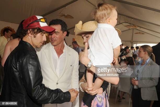 Steven Klein Andre Balazs Delfina Blaquier and Artemio Figueras attend 2010 VEUVE CLICQUOT Polo Classic at Governors Island on June 27 2010 in New...