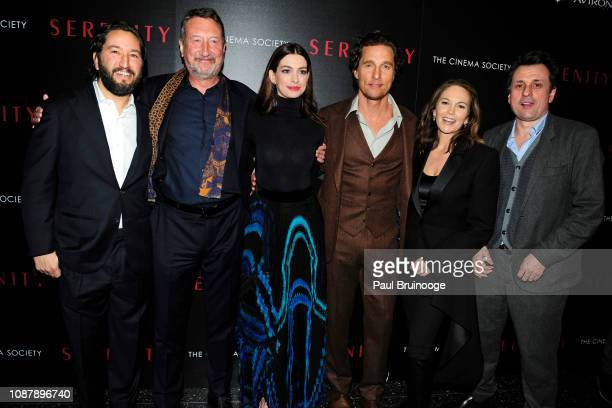 Steven Knight Anne Hathaway Matthew McConaughey and Diane Lane attend Aviron Pictures With The Cinema Society Host A Special Screening Of 'Serenity'...