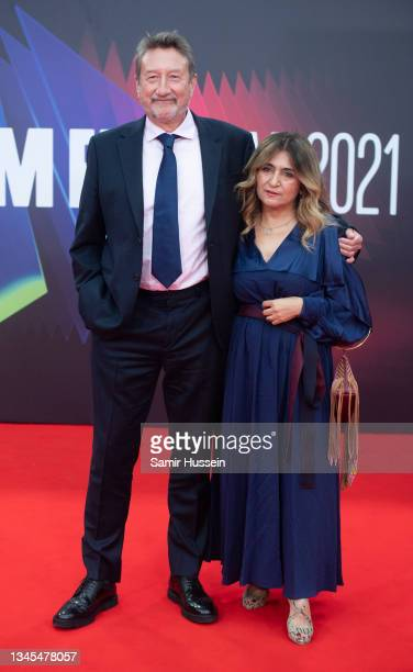 """Steven Knight attends """"Spencer"""" UK Premiere during the 65th BFI London Film Festival at The Royal Festival Hall on October 07, 2021 in London,..."""