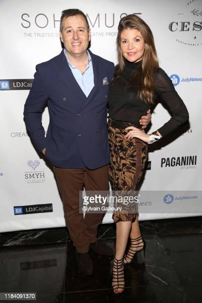 Steven Knobel and Nicole Noonan attend PAGANINI HONORS PAGANINI A Tribute To Niccolo Paganini By Maria Elena Paganini on October 28 2019 in New York...