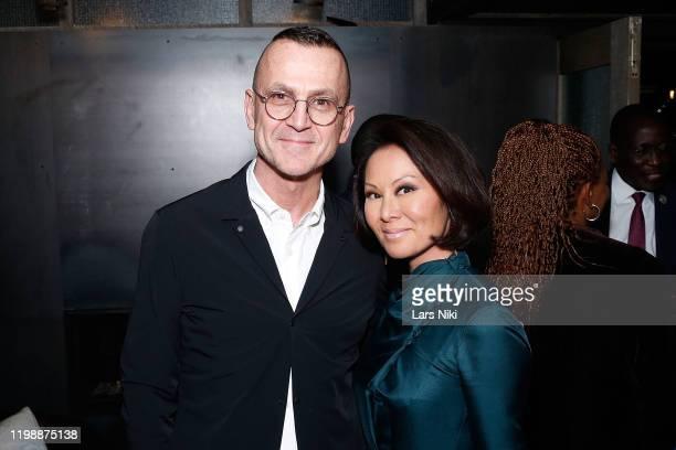 Steven Kolb and Alina Cho attend Fashionscapes The Diamonds Of Botswana documentary screening at 1 Hotel Brooklyn Bridge on February 5 2020 in...