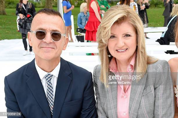 Steven Kolb and Arianna Huffington attend the front row of Carolina Herrera fashion show during New York Fashion Week on September 09 2019 in New...
