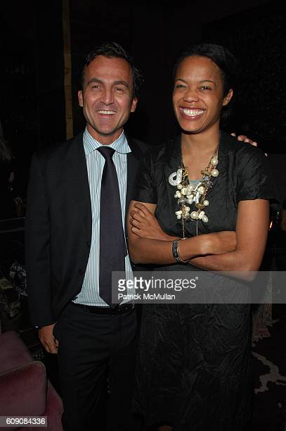 Steven Kolb and Bonnie Morrison attend DIANE VON FURSTENBERG and RICHARD LAMBERSTON toast ROBERT LEE MORRIS at Rose Bar Gramercy Park Hotel NYC on...