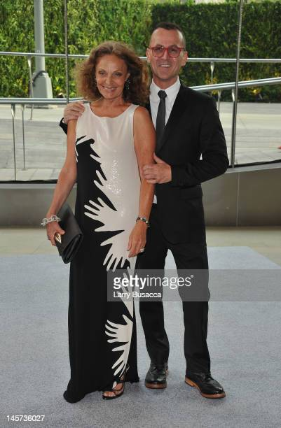 Steven Kolb and CFDA President Diane von Furstenberg attends the 2012 CFDA Fashion Awards at Alice Tully Hall on June 4 2012 in New York City