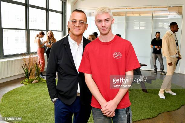 Steven Kolb and designer Reese Cooper attends the Reese Cooper presentation during New York Fashion Week The Shows on September 10 2019 in New York...