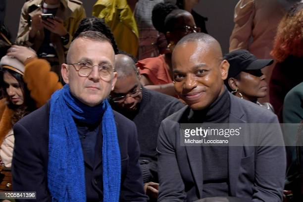 Steven Kolb and Ray A Smith attend the Sukeina front row during New York Fashion Week The Shows at Gallery I at Spring Studios on February 12 2020 in...