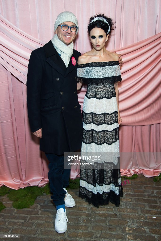 Steven Kolb (L) and Stacey Bendet attend the Alice + Olivia by Stacey Bendet presentation during February 2017 New York Fashion Week at Highline Stages on February 14, 2017 in New York City.