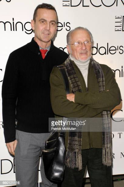 Steven Kolb and Stan Herman attend ELLE DECOR and BLOOMINGDALE'S Celebrate Reopening of Furniture Department With Auction Benefitting CFDA at...