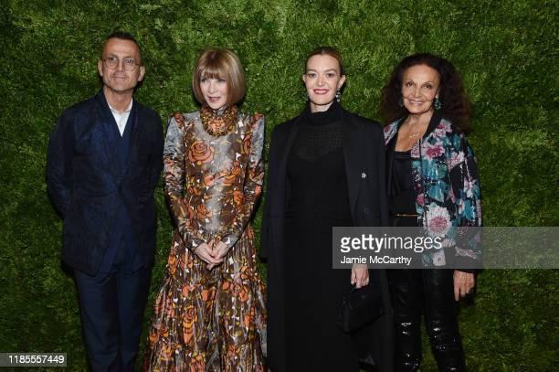 Steven Kolb Anna Wintour Marta Ortega and Diane von Furstenberg attend the CFDA / Vogue Fashion Fund 2019 Awards at Cipriani South Street on November...
