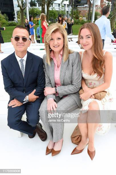 Steven Kolb Arianna Huffington and her daughter Christina Huffington attend the front row of Carolina Herrera fashion show during New York Fashion...