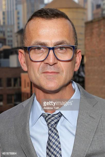 Steven Kolb attends the CFDA And MyHabit Give With Style Summer Soiree at the NoMad Hotel Rooftop on July 8 2014 in New York City