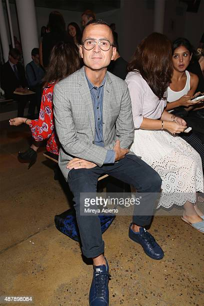 Steven Kolb attends the Dion Lee fashion show during Spring 2016 MADE Fashion Week at Milk Studios on September 12 2015 in New York City