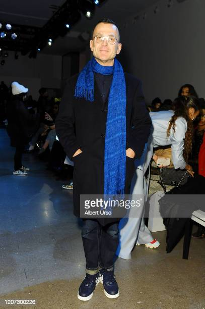 Steven Kolb attends the Fe Noel front row during New York Fashion Week The Shows at Gallery II at Spring Studios on February 12 2020 in New York City