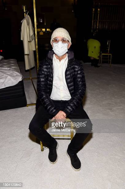 Steven Kolb attends the front row during the Christian Siriano FW2021 NYFW Show at Gotham Hall on February 25, 2021 in New York City.