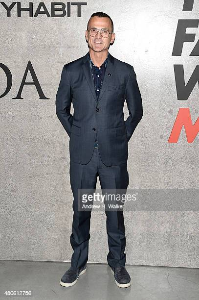 Steven Kolb attends the opening event for New York Fashion Week Men's S/S 2016 at Amazon Imaging Studio on July 13 2015 in Brooklyn New York