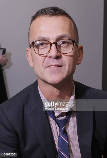 Steven Kolb attends the Patrik Ervell Spring 2013 fashion show during MercedesBenz Fashion Week at Milk Studios on September 9 2012 in New York City