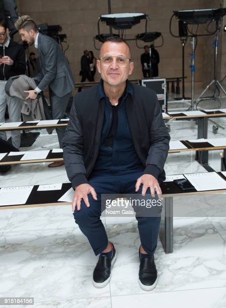 Steven Kolb attends the Perry Ellis fashion show during New York Fashion Week Mens' at The Hippodrome Building on February 6 2018 in New York City