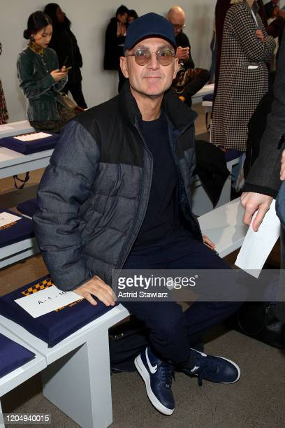 Steven Kolb attends the Private Policy front row during New York Fashion Week The Shows at Gallery II at Spring Studios on February 08 2020 in New...