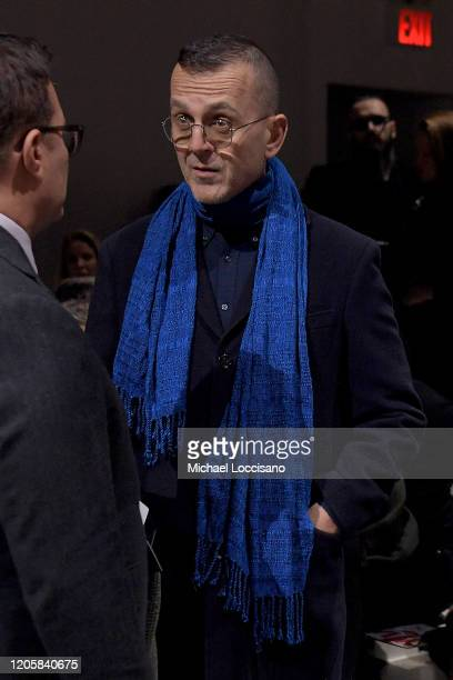 Steven Kolb attends the Sukeina front row during New York Fashion Week The Shows at Gallery I at Spring Studios on February 12 2020 in New York City