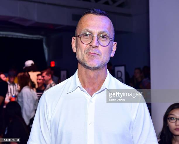 Steven Kolb attends the Todd Snyder S/S 2019 Collection during NYFW Men's July 2018 at Industria Studios on July 11 2018 in New York City