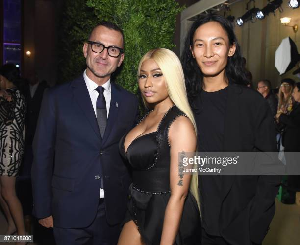 Steven Kolb Nicki Minaj and Alexander Wang attend the 14th Annual CFDA/Vogue Fashion Fund Awards at Weylin B Seymour's on November 6 2017 in the...
