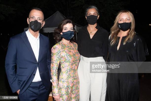 Steven Kolb, NY Governor Kathy Hochul, Radhika Jones and Leslie G. Attend the Prabal Gurung S/S 22 Show during New York Fashion Week at Robert F....