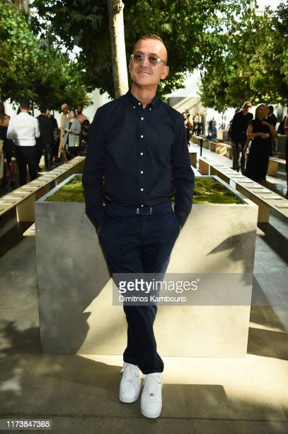 Steven Kolb poses backstage during the Michael Kors Collection Spring 2020 Runway Show on September 11 2019 in Brooklyn City