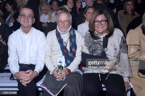 Steven Kolb Stan Herman and Fern Mallis attends the Nicole Miller fashion show during February 2020 New York Fashion Week The Shows at Gallery II at...
