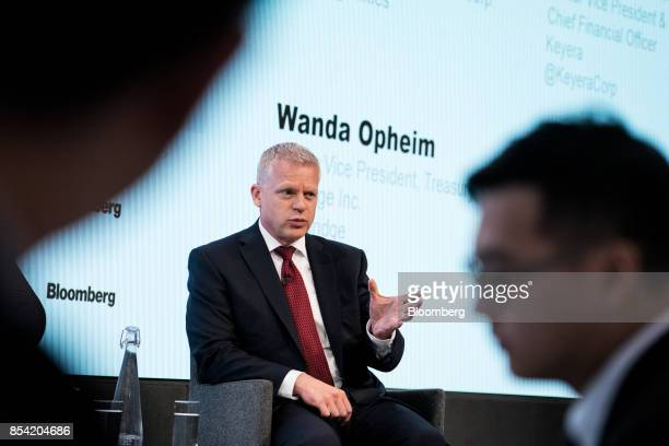 Steven Kroeker senior vice president and chief financial officer of Keyera Corp speaks during the Bloomberg Canadian Fixed Income Conference in New...