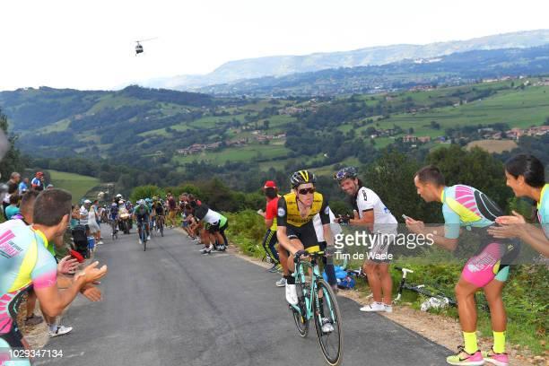 Steven Kruijswijk of The Netherlands and Team LottoNL - Jumbo / Alto Les Praeres / Landscape / Fans / Public / during the 73rd Tour of Spain 2018,...
