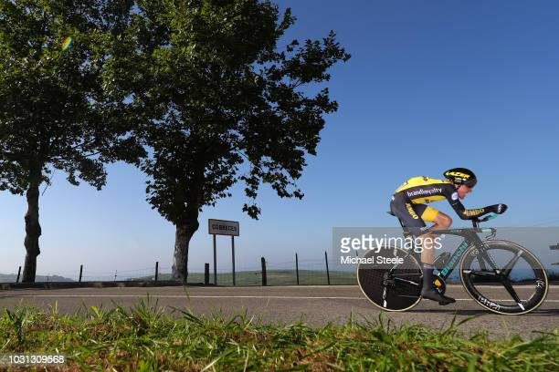 Steven Kruijswijk of The Netherlands and Team LottoNL - Jumbo / Cobreces Village / Cantabrico sea / during the 73rd Tour of Spain 2018, Stage 16 a...