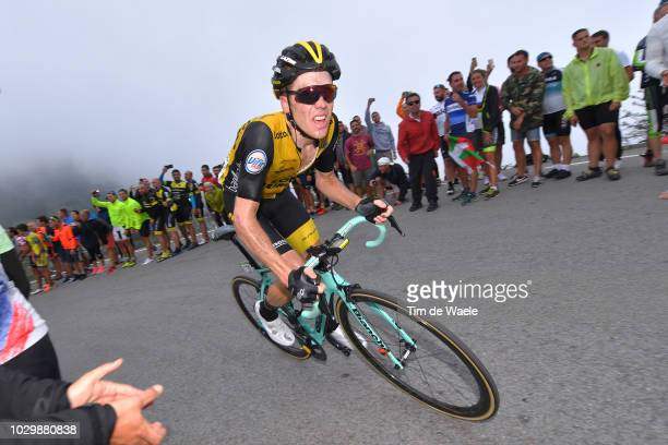 Steven Kruijswijk of The Netherlands and Team LottoNL Jumbo / during the 73rd Tour of Spain 2018 Stage 15 a 1782km stage from Ribera de Arriba to...