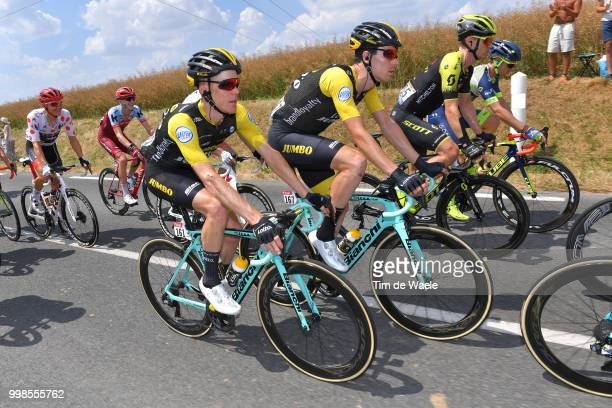 Steven Kruijswijk of The Netherlands and Team LottoNL Jumbo / Timo Roosen of The Netherlands and Team LottoNL Jumbo / during the 105th Tour de France...