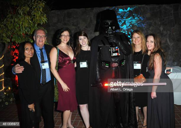 Steven L Carter and guests with Darth Vader of Dark Side Riders attend the After Party for the 40th Annual Saturn Awards held at on June 26 2014 in...
