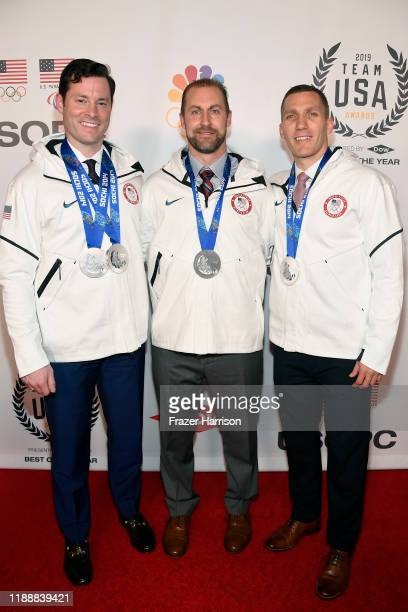 Steven Langton Curtis Tomasevicz and Christopher Fogt attend the 2019 Team USA Awards at Universal Studios Hollywood on November 19 2019 in Universal...