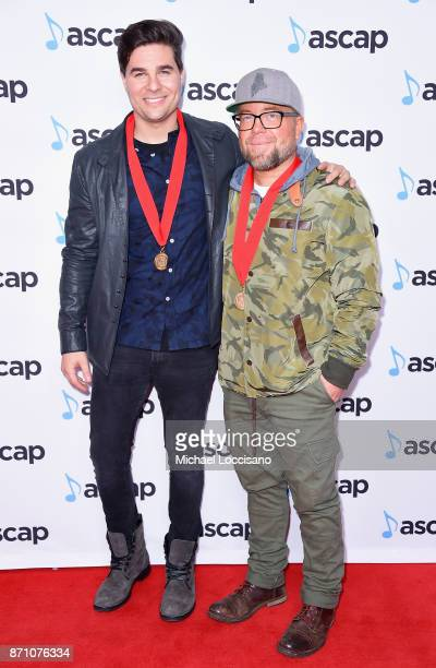 Steven Lee Olsen and Clint Lagerberg attend the 55th annual ASCAP Country Music awards at the Ryman Auditorium on November 6 2017 in Nashville...