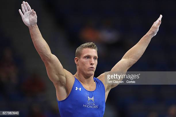 Steven Legendre, Norman, Oklahoma, in action during the Senior Men Competition at The 2013 P&G Gymnastics Championships, USA Gymnastics' National...