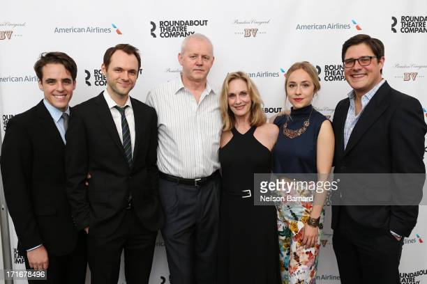 Steven Levenson Christopher Denham David Morse Lisa Emery Sarah Goldberg and Rich Sommer attend The Unavoidable Disappearance Of Tom Durnin Opening...