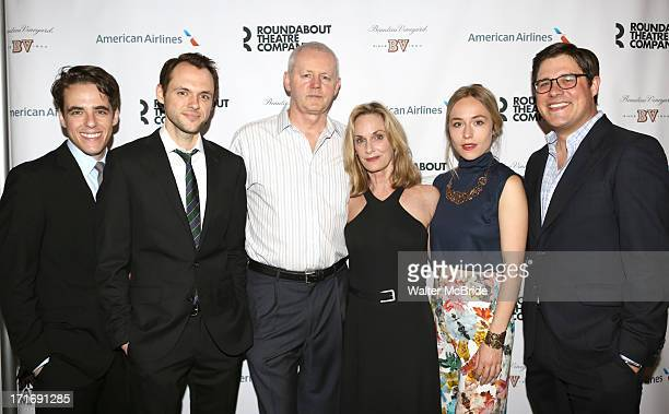 "Steven Levenson, Christopher Denham, David Morse, Lisa Emery, Sarah Goldberg and Rich Sommer attends ""The Unavoidable Disappearance Of Tom Durnin""..."