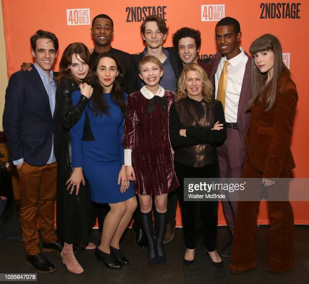 Steven Levenson, Odessa Young, Lauren Patten, J. Alphonse Nicholson, Tavi Gevinson, Mike Faist, Carole Rothman and company attend the After Party for...