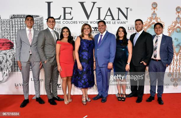 Steven LeVian Jason LeVian Chloe LeVian Elizabeth LeVian Moosa LeVian Alexa LeVian Josh LeVian and Jeremy LeVian attend the Le Vian 2019 Red Carpet...