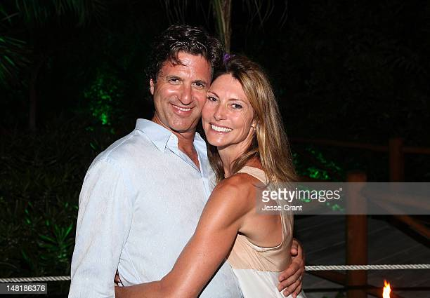 Steven Levitan and Krista Levitan celebrate Sofia Vergara's 40th birthday at the Rosewood Mayacoba on July 10 2012 in Playa del Carmen Mexico