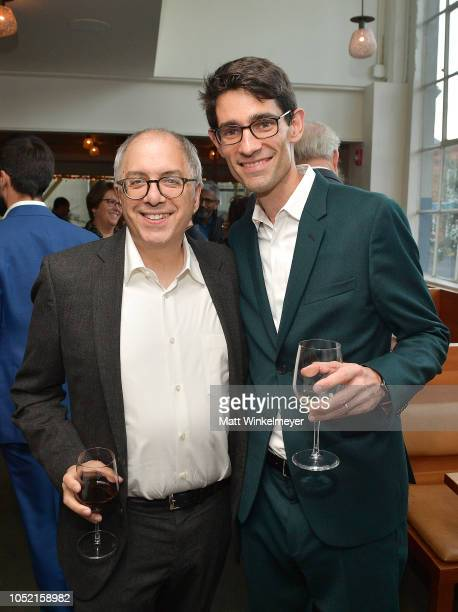 Steven Levy and Nicholas Thompson attend VIP Dinner For WIRED's 25th Anniversary Hosted By Nicholas Thompson And Anna Wintour at Tartine Manufactory...