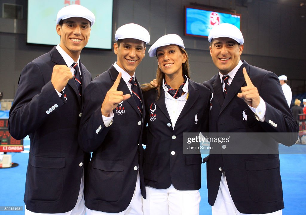 Steven Lopez, Mark Lopez, Diana Lopez and Jean Lopez of the United States Olympic Tae Kwando team pose for a photo on the opening day of the Beijing 2008 Olympic Games on August 8, 2008 in Beijing, China.
