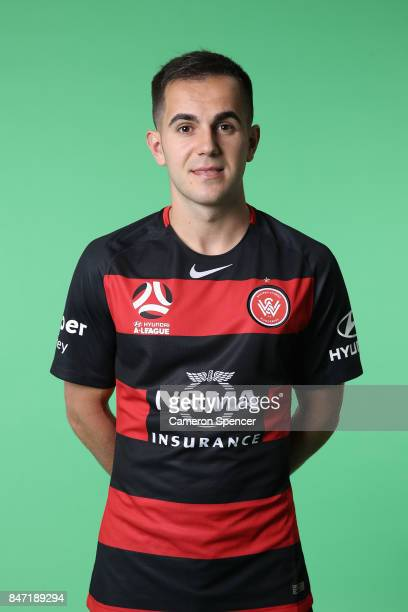 Steven Lustica poses during the Western Sydney Wanderers ALeague headshots session at Fox Sports Studios on September 15 2017 in Sydney Australia