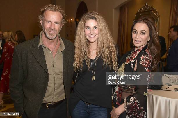 Steven Lyon Caroline Bray and Ava Fabian attend the Elephant Action League Los Angeles Benefit Auction at The Montage on June 1 2017 in Beverly Hills...